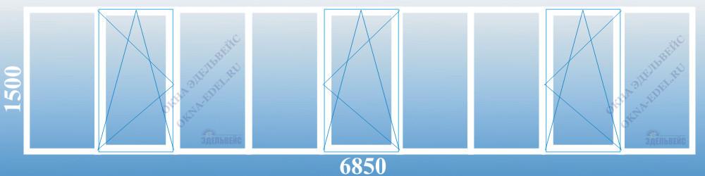 Застеклить лоджию 6 метров окнами veka.